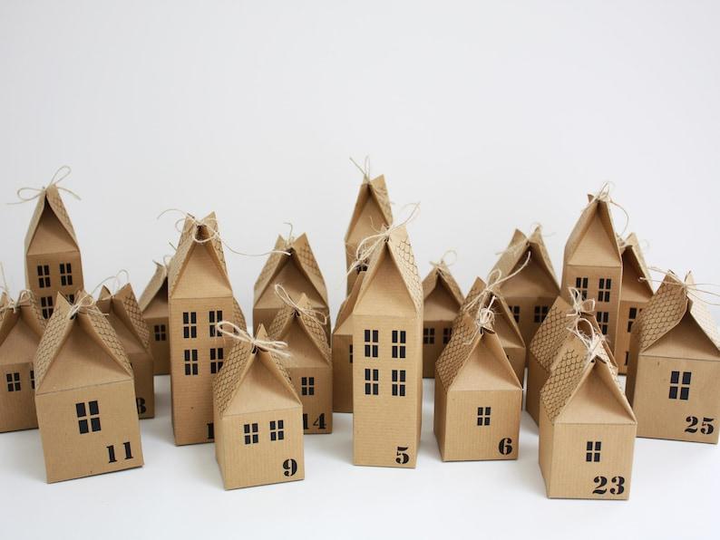 Advent Calendar Christmas Village House Kit DIY Make Your Own image 0
