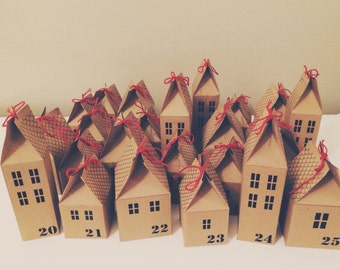 Printable DIY Advent Calendar Houses