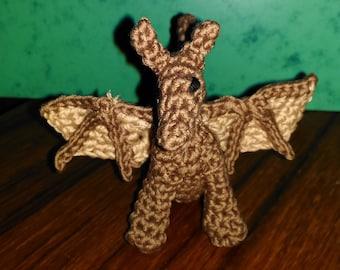 Amigurumi dragon keychain