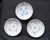 Rare handpainted antique saucers by Fürstlich - Sachsen - Weimar Porzellan Grossbreitenbach. 18th century porcelain. Vintage