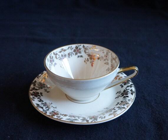 Oscar Schaller China Blau Teetasse mit Untertasse Tasse Untere Gedeck