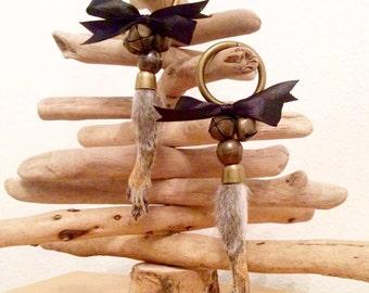 20% off sale Grey squirrel paw christmas tree ornament taxidermy