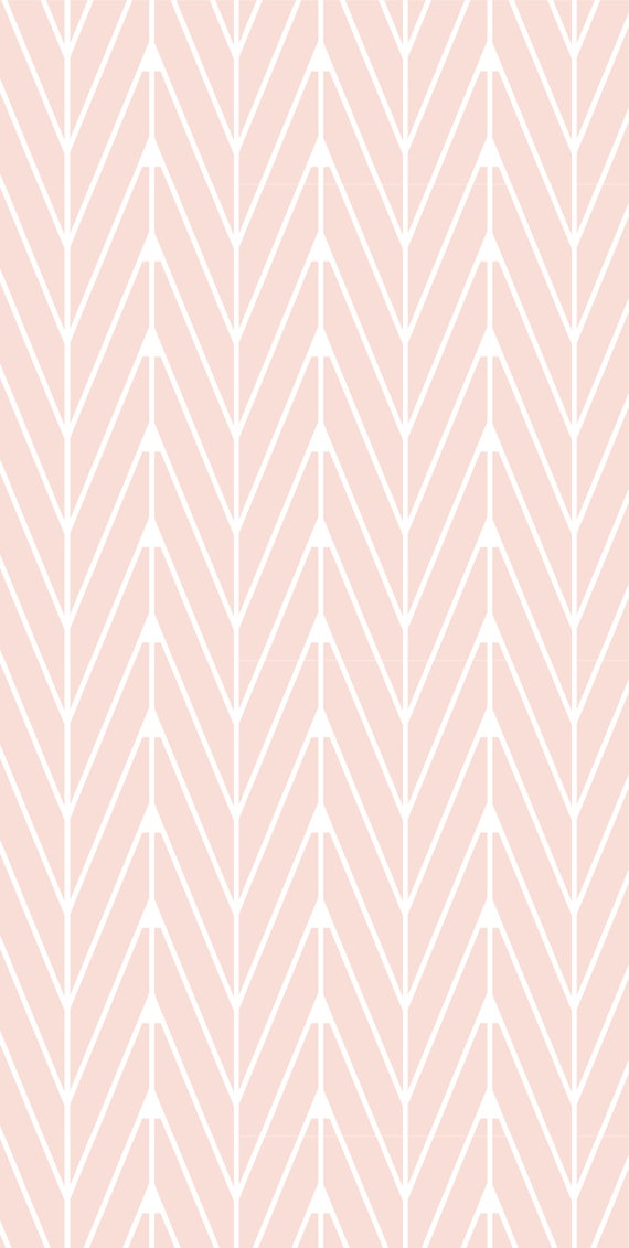 Self Adhesive Removable Wallpaper Zig Zag Pattern Peach Wallpaper Peel And Stick Repositional Fabric Wallpaper Custom Design Wall Mural