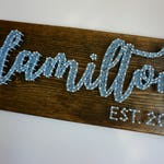Custom Last Name String Art, Last Name Sign, Last Name Wedding Gift