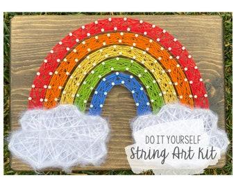 DIY Rainbow String Art Kit