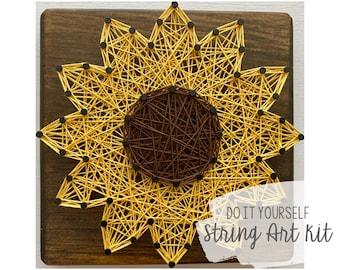 DIY Sunflower String Art Kit
