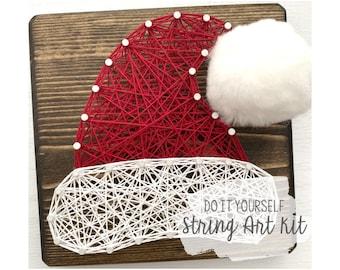 "DIY 5x5"" Santa Claus Hat String Art Kit"