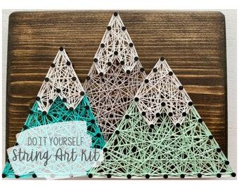 DIY Mountains String Art Kit