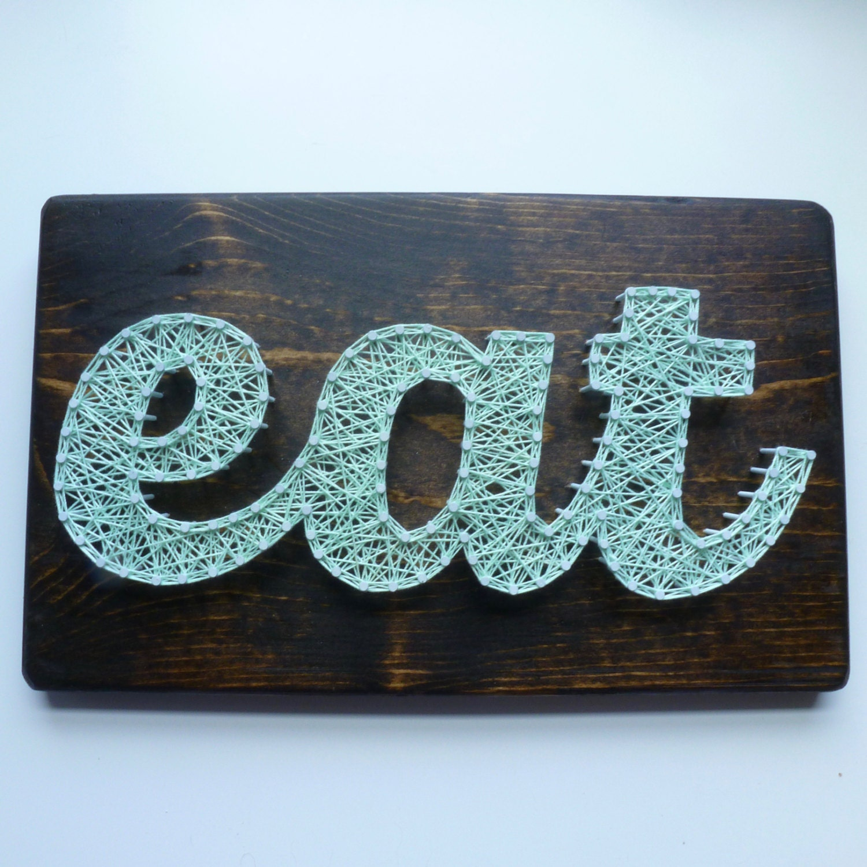 Eat String Art Kitchen Wall Hanging Kitchen Decor Eat Sign | Etsy