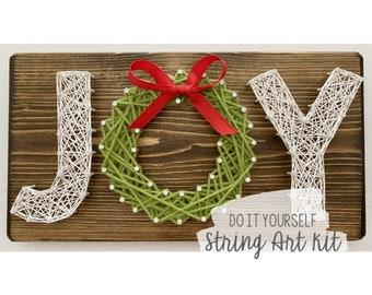 DIY Joy Wreath String Art Kit