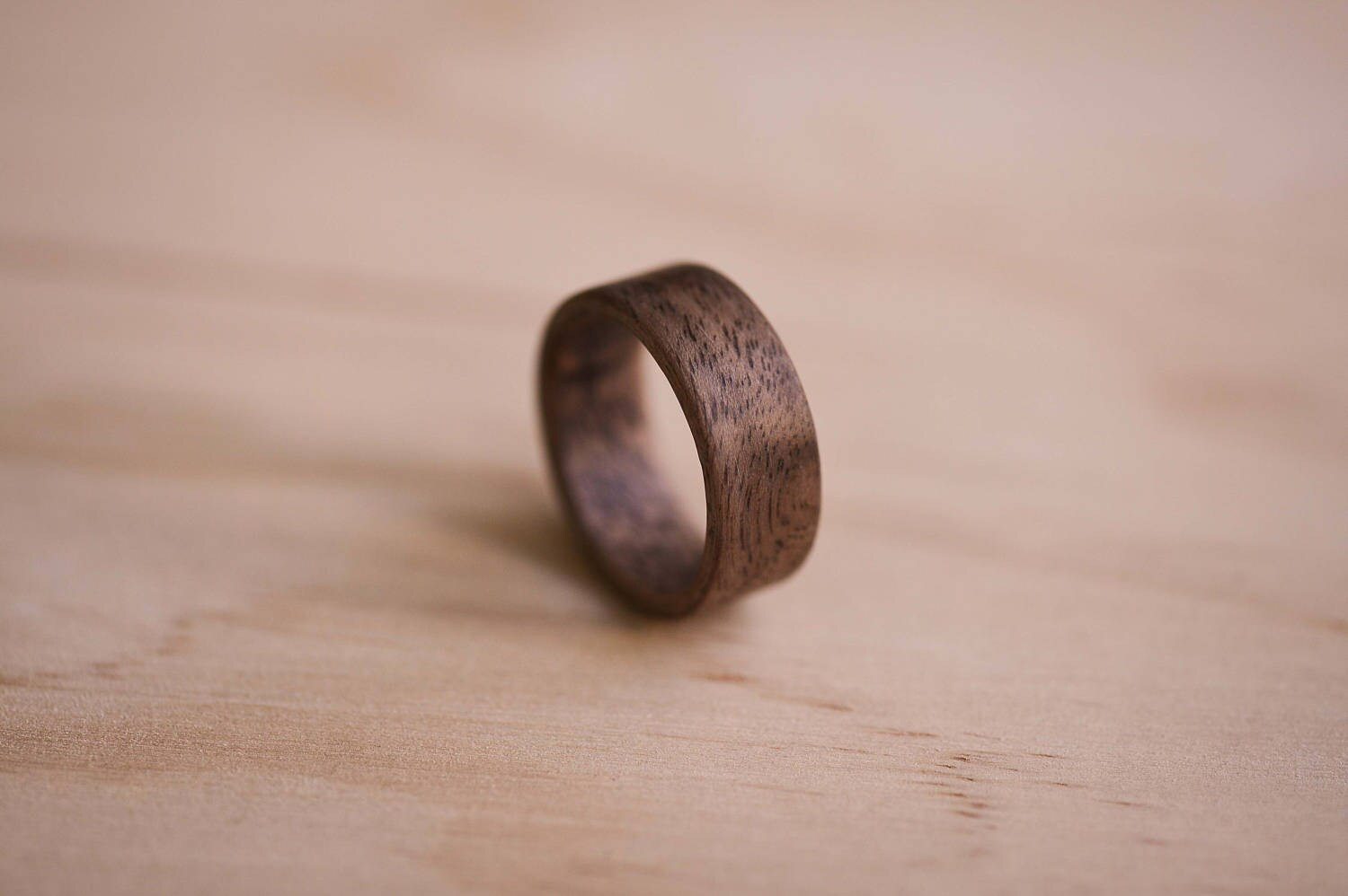 Claro Walnut Bentwood Ring | Etsy