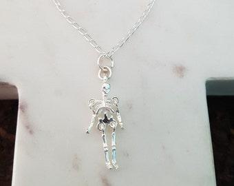 Sterling Silver Skeleton Necklace