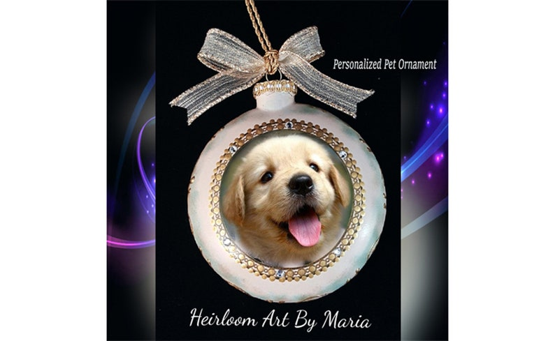 RESERVED for Linda Cushman Personalized Pet Ornament