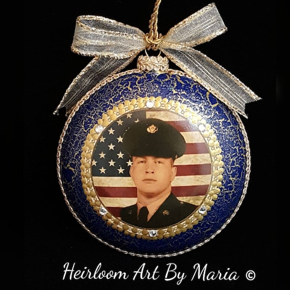 Naval Christmas Ornaments.Personalized Military Christmas Ornaments Military Appreciation Military Pride Navy Marine Army Coast Guard Air Force Memorial Ornament