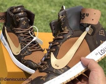 9251fc320840 Nike Air Jordan 1 with LV OFF Design. DenisCustoms
