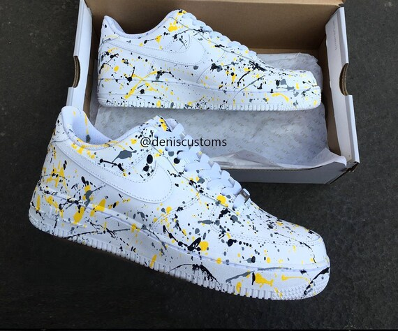 Nike Air Force 1 Yellow and Black