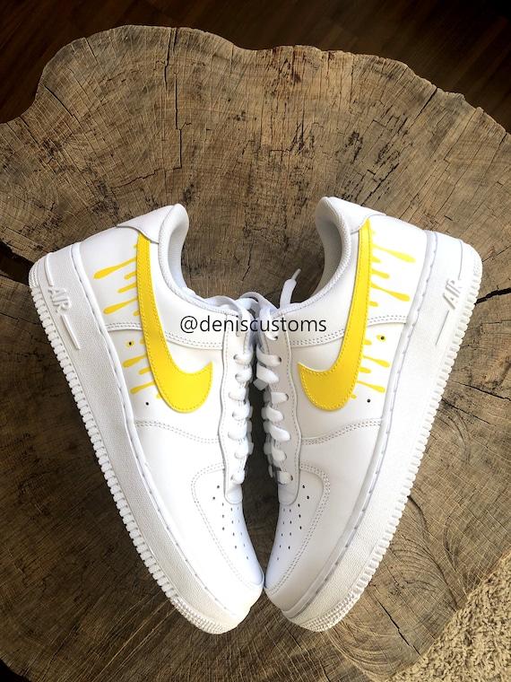 Candy 1 Air gelben Force niedrig mit Tropf Design weiß Nike f7bgYvy6