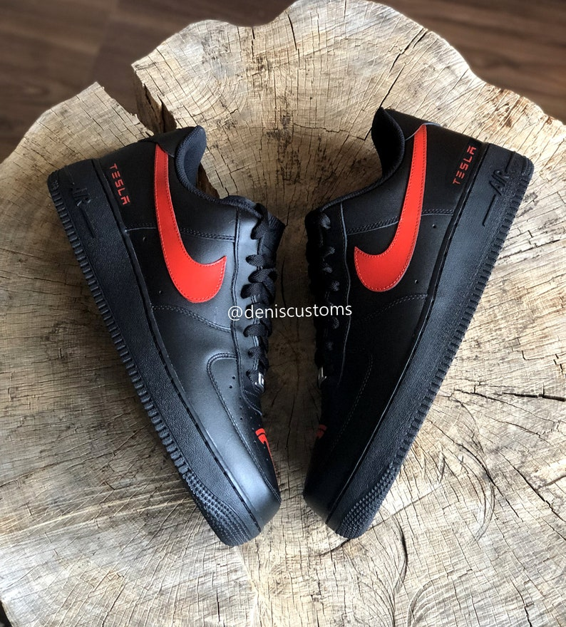 bc0866d914cbe Tesla x Nike Air Force 1 Low Black Sneakers
