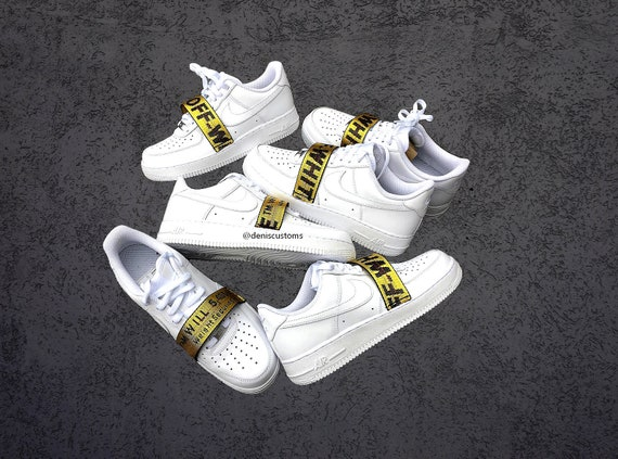 Nike Air Force 1 Low with Off White Strap Custom Design