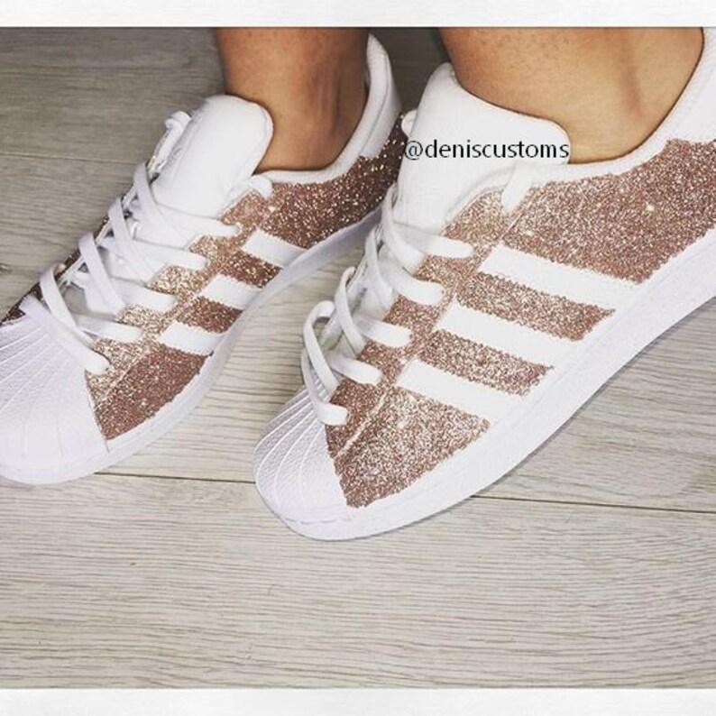 la moitié 617c1 2f42d Adidas Superstar Bronze Glitter Custom Design