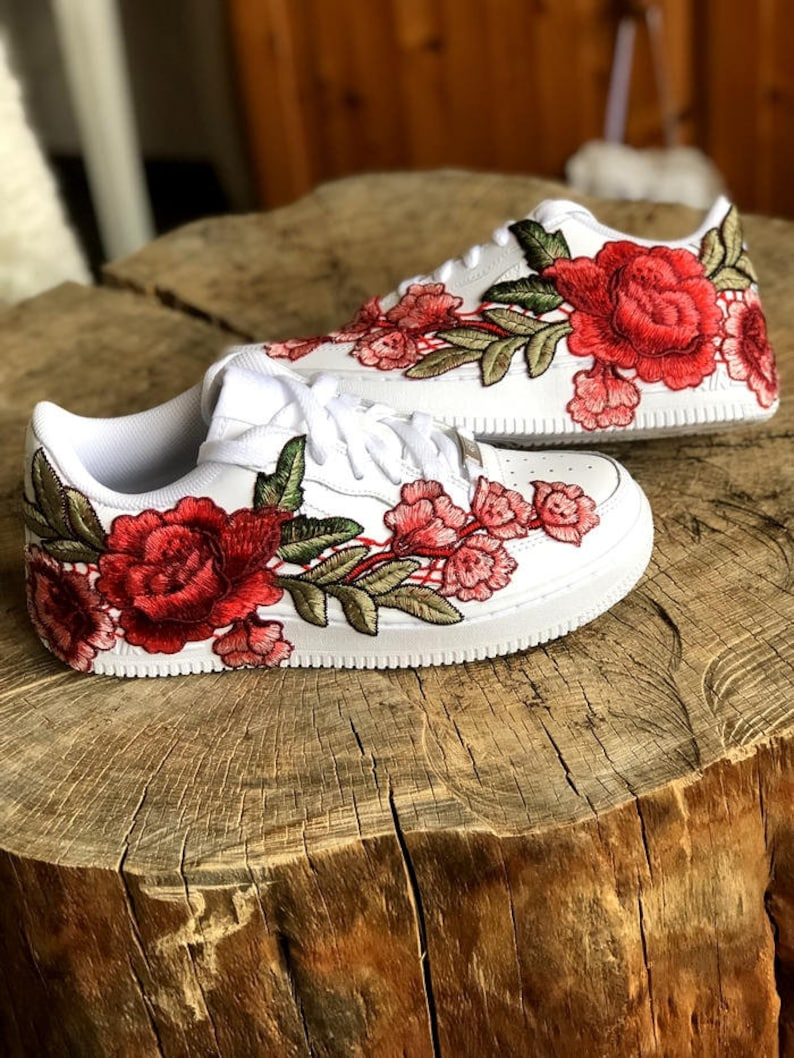 d9dba0fc334cb Nike Air Force 1 Low with Rose Floral Embroidered