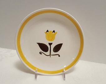 Stangl New Yellow Tulip 6'' Plate #5325