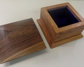 Luxury small wooden celebration box