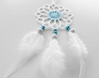 Mini car dream catcher white dreamcatcher crochet doily dream catcher white feathers boho dreamcatchers wedding decor for gift wrapping