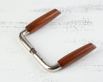 Vintage doorhandle, vintage wooden metal door handle, door decor, door handle , home office decor