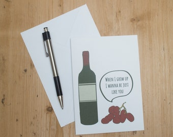 Birthday Cards Wine Lover Card Funny For Mum Lovers Family