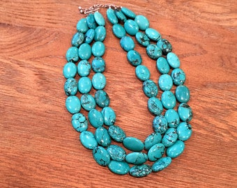 Triple strand Tuquoise Necklace