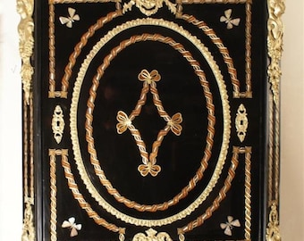 Furniture support 1porte Napoleoniii inlaid with mother of Pearl and Rosewood