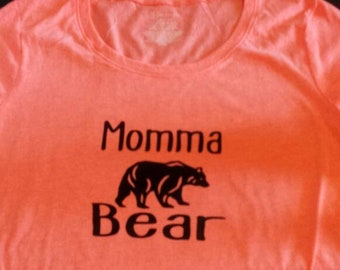 "Large ""mamma bear"" t-shirt"
