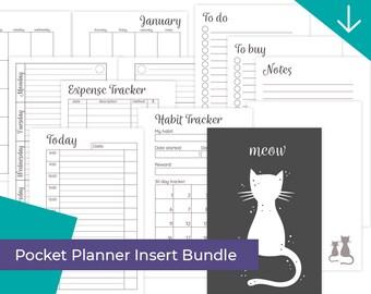"Pocket Planner Insert Bundle ""Meow"""