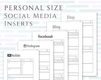 PERSONAL SIZE Social Media Planner