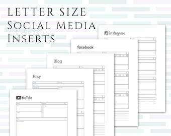 LETTER Social Media Planner