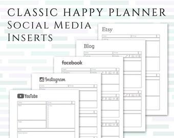 CLASSIC HAPPY PLANNER Social Media Planner