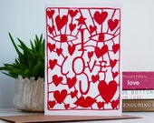 Valentines day I love you card, hearts card, i love you engagement card, love heart card, heart engagement card, love card, heart card