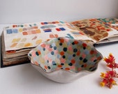 Handmade colourful polka dot ceramic bowl, ceramic ring dish, decorative ceramic bowl, pottery bowl, ceramic catchall,ceramic polka dot dish