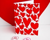 Valentines day heart card, heart birthday card, card, anniversary card, engagement card, hearts wedding card, love hearts card, valentines
