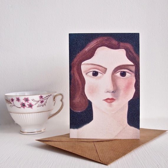 Vintage Lady Birthday Card Her Period Drama
