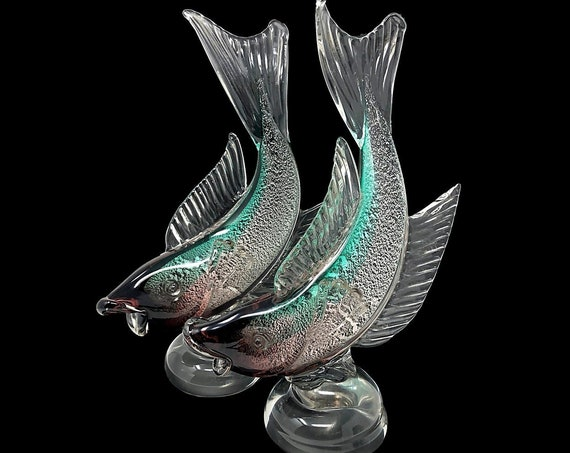 "MONUMENTAL 15+"" C.1960s Alfredo BARBINI MURANO Sommerso 