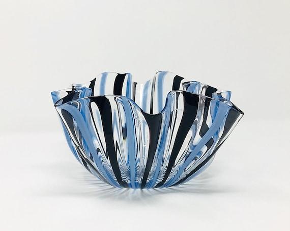 HUGE Early 1948 VENINI Murano Glass Fazzoletto | Handkerchief Vase by Fulvio BIANCONI | Rare 4-line Signature