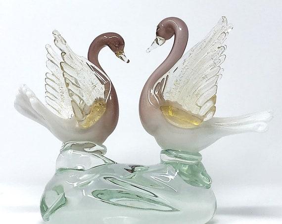C.1950s BARBINI For SALVIATI MURANO Cased | Lattimo Glass Bird Sculpture - Pristine
