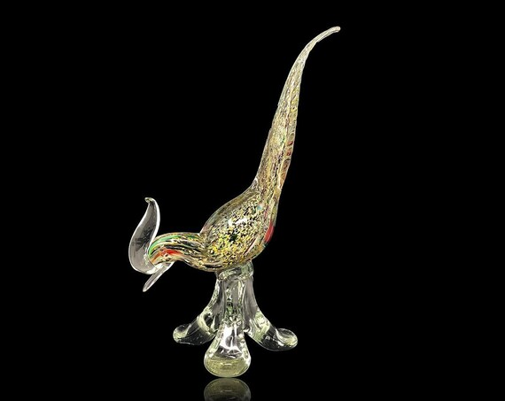 Large MURANO A.VE.M (Arte Vetraria Muranese) Sommerso Glass Bird -- Documented & Minty