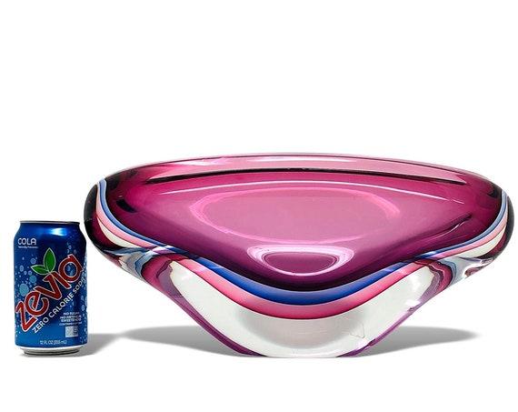 GARGANTUAN 20+ lbs Luigi Onesto MURANO OBALL Sommerso Glass Centerpiece | Bowl | Vase