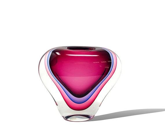 MONUMENTAL Luigi Onesto MURANO OBALL Sommerso Glass Vase