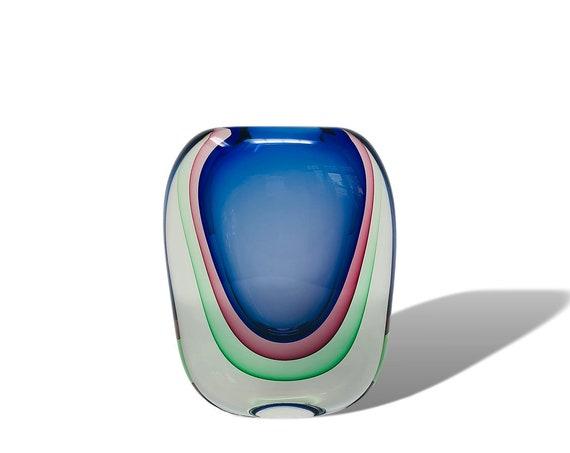 HUGE Modern Luigi Onesto | Oball SOMMERSO MURANO Glass Vase