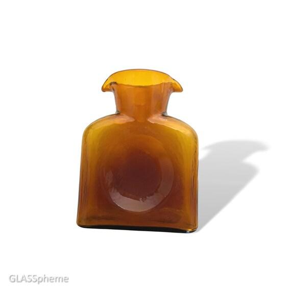 BLENKO #384 Textured Glass Carafe/Water Bottle/Decanter in HONEY
