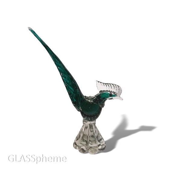 Mid-Century MURANO Bullicante Glass Bird | Rooster Statue | Figurine | Sculpture
